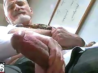Sexy Bisexual Grandpa Beating his meat to hand the Designation 'work'