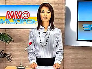 CMM Headline  Maria Ozawa Anchorman Bukkake