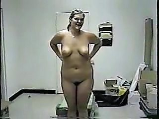 Nervous Chick Strips On Camera