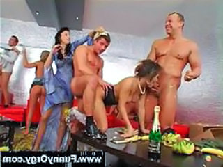 Banana party turned into an orgy