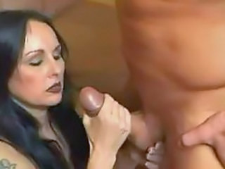 Hairy mature handjob