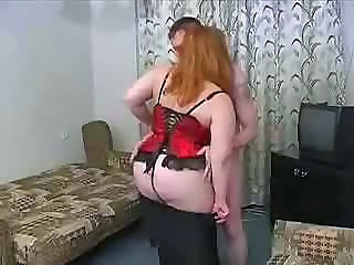 Fat BBW Russian Mature Mom Son