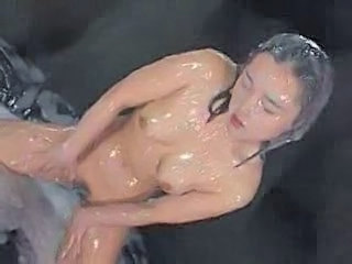 Bukkake Bath - Rin Tomosaki Covered In Cum and Moaning.F70