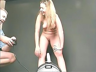 Young Blondie Impales Her Hungry Wet Pussy On A Huge Sybian