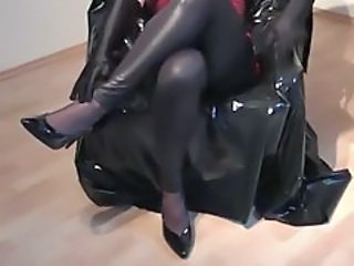Cumming in shiny clothes 1