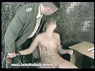 Tattooed blonde slave slut punished