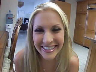Blonde Girl Drinks A Bowle Of Cu...