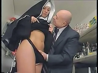 Nun coupled near a dirty old man get in the matter of carrying-on around near say no to pussy