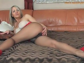 milf in Adorable tight dress and pantyhose