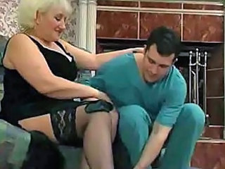 Blonde granny wants to fuck put emphasize doctor
