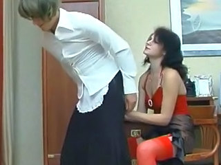 Millie and Frank strapon pussyclothed porn movie