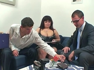 2 guys invade large boobed nymph