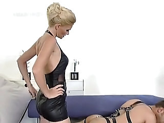 Blonde mistress and will not hear of slave, good screwing   german   csm