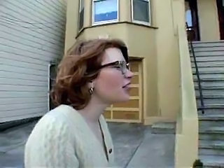 Hairy redhead teen flashing in public - N. C.