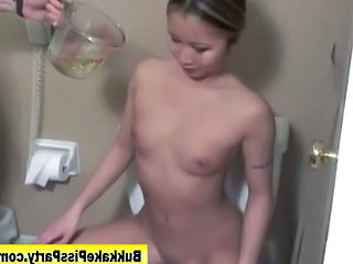 Bukkake fetish slut piss shower...