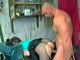 Pantyhose girl takes it anal
