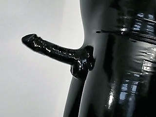 Wearing my tight,shiny latex pants and gloves