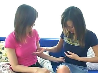 Asian Cutie Gets Down Increased by Dirty With A Lesbian For The Very First Time