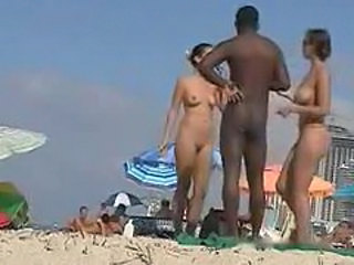 Western Tourists fawning over Malabari Negro at Goa N...