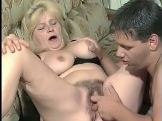 Granny gets fucked on the...