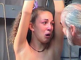 Bound bitch cries after kinky...