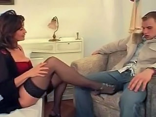 German Milf Teached to Be hung up on