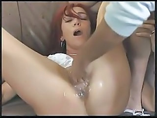 Ugly milf fisting and squirting