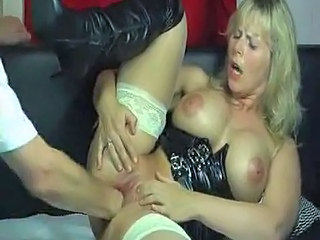 Lady gets a full fist