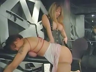 Femdom Spanking Together with Boob Torture