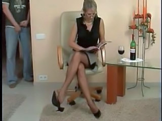 Footboy and dispirited Matures Nylonsoles