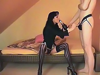 Wasting away German fucked and jizzed on