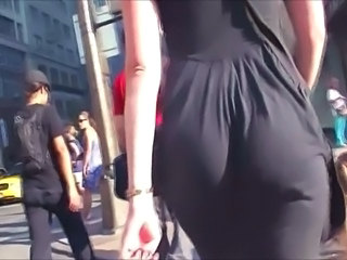 Some Phat Jiggly ASSES In Black Skirts