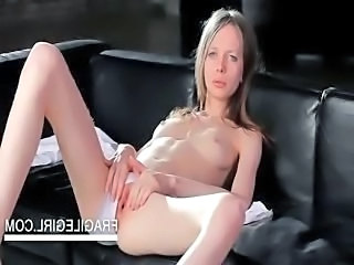 Teenage cutie showing sexy slim assets