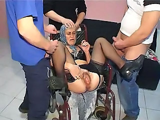 granny gangbang - Mature sex video -
