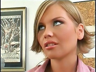 my new secretary - Lesbian sex video -