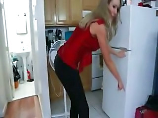 Friend's hot blonde mom gives him a lesson in grown up sex