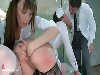 These Nurses Found A Hard Cock To Use And Get It Up The Ass