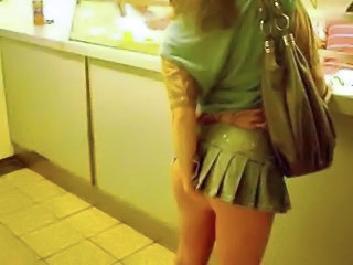 Pinkfluff  No Knickers Upskirt In Chinese Takeaway