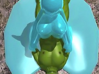 3d demon girl with four tits rides
