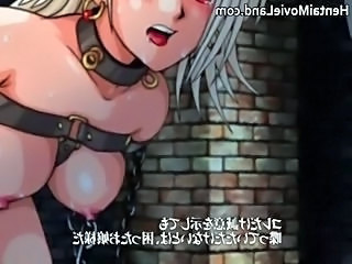 Hot blonde anime bitch gets bound part2