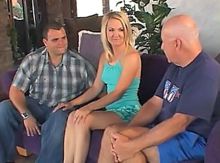 Sexy young blonde strips and gets her pussy licked in front of her ...