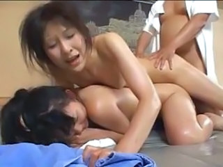 Young and old Japanese babes get abused and fucked at a spa