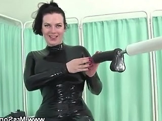 Mature In Latex Sucks And Fucks Sex Machine