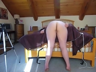 Wife Bent Over the Bed Flogged & Fucked Disciplined