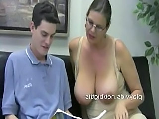 Teacher with big tits gives a handjob lesson  free