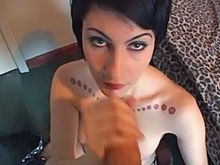Cute goth Pixie fuck and blow for anal