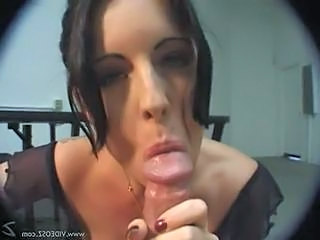 Brunette Babe Azlea Gives A Great Pov Blowjob On His Fat Cock