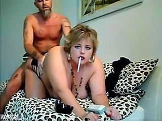 BBW Smoking Gets Fucked From Secretly