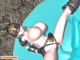 Shemale 3d hentai hither four boobs hot poked a bondage anime