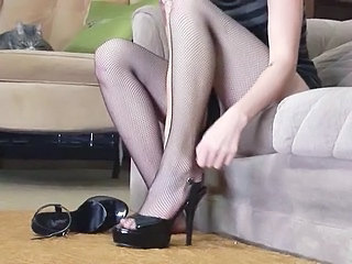 Tall Redhead Low-spirited Stockings...